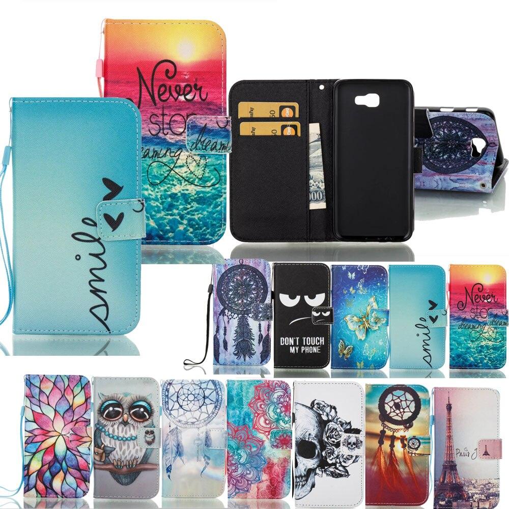 Galleria fotografica For Samsung J5 Prime Patterned Flip Wallet Leather Case Cover Stand For Samsung Galaxy J3 Prime J7 Prime A3 A5 2017 J5 J7 2017