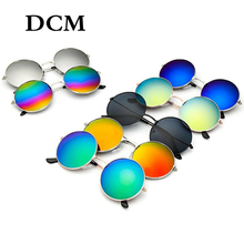 DCM Vintage Retro Round Sunglasses Men Women Metal Frame Dri