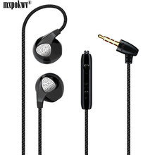 Fashion Sport Earphone 3.5mm Jack Super Bass Stereo Earphone With MIC For Phone PC Music Earpieces 1.2M Wired Headset(China)