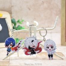 Cute Tokyo ghouls acrylic Keychain Pendant Car Key Chain Key Accessories Kaneki  Japanese Cartoon Collection Best Gift LTX1