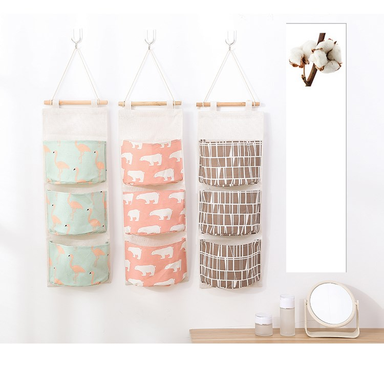 Canvas Storage Boxes For Wardrobes: Aliexpress.com : Buy 3 Cell Canvas Storage Bags Hanging
