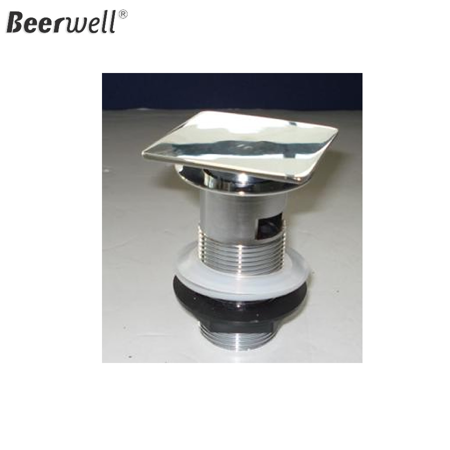pop up waste F&P  New Bathroom Brass Chrome Washing Machine Drain basin waste Anti-odor Floor Drain in stock have Overflow 2x new stainless steel chrome bathroom bath sink vessel basin overflow waste drain drainer