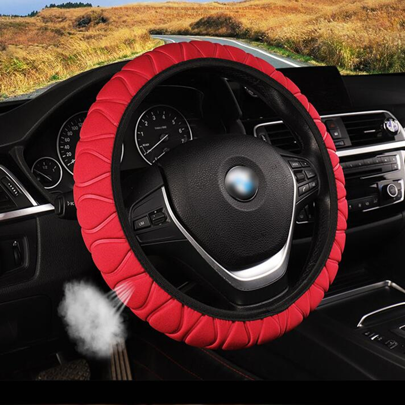 Steering Covers Braid On The Steering Wheel Cover Auto Universal Interior Accessories Steering Wheel Cover         Funda Volante(China)