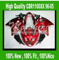 Honda CBR1100XX 1996 2005 CBR1100 XX 96 05 CBR 1100XX 96 05 CBR 1100 XX 96 05 ABS laminer akış kiti kırmızı # S6621T