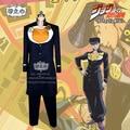 JOJO Higashikata Josuke Cosplay Costume Halloween party Dress Shirt+Coat+Pants+Wristband