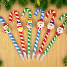 5 шт. Рождество pen рождественский куклы полимерная глина шариковая ручка трость ручка в призовом школьных принадлежностей
