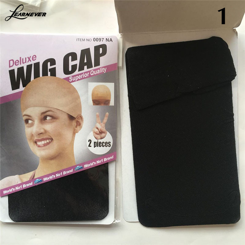 1Pc Unisex Nylon Bald Wig Hair Cap Stocking Snood Mesh Stretch Black/Nude/Coffee M02891