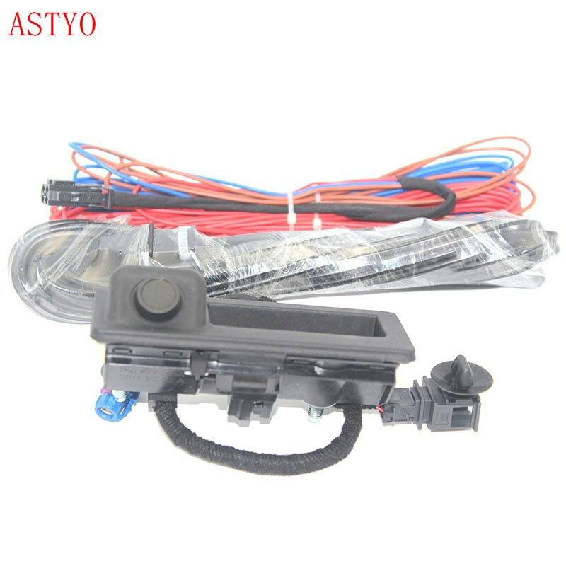 ASTYO автомобиль RGB камера заднего вида + кабель для VW ЭОС Гольф плюс Джетта MK5 MK6 Tiguan Passat B7 RNS315 RCD510 RNS510