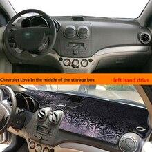 Movimentação da mão esquerda tampa do painel de instrumentos do carro almofada da esteira para Chevrolet Lova no meio do storag box insulaed mat para Chevrolet