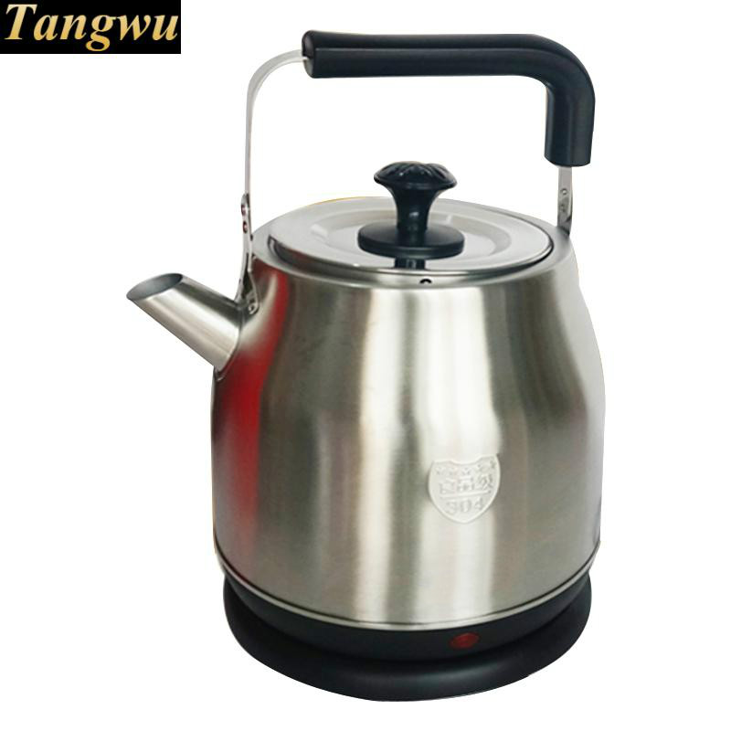 Boil water kettle large capacity 304 stainless steel 4.5 L itres clay pot electric kettle is used to boil water 304 stainless steel