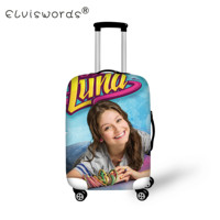 ELVISWORDS Cartoon Luna Thick Elastic Luggage Protective Cover with Zipper for 18 30 inch Trunk Trolley Travel Suitcase Covers