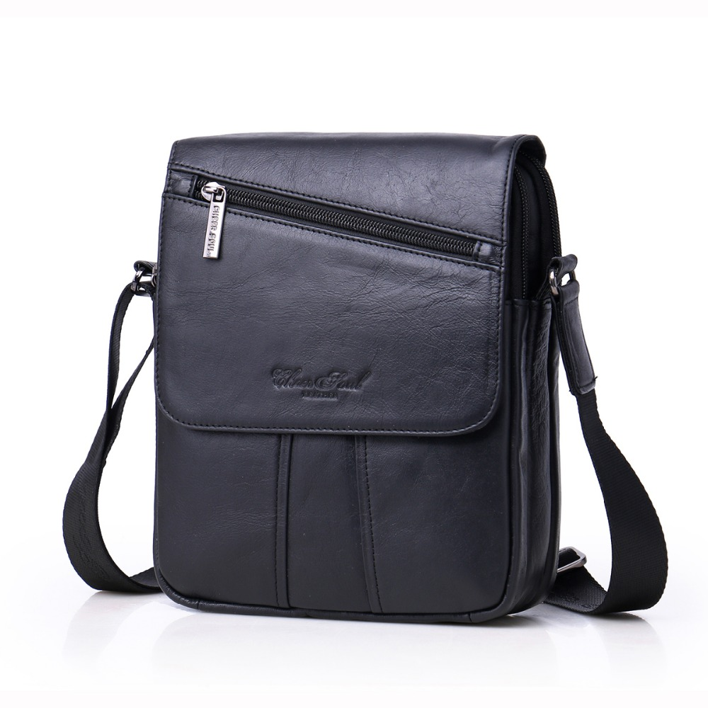Hot sale CHEER SOUL 2017 New style fashion men's bags genuine leather purse men's single shoulder bag cross bag Multipurpose bag