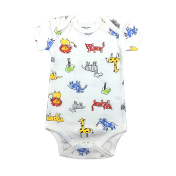 Baby Boys Girls Summer Clothes 2019 New Fashion 100% Cotton Bodysuit Short Sleeve Newborn