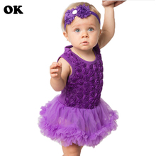 цена на 0-2 Year Birthday Baby Girl Dress Summer Girls Embroidery Clothes Kids Dresses For Baby Girl Party Dress Kids Baby Clothes