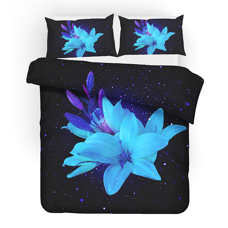Rose Flowers Digital Printing 3D Bedding Set Duvet Covers Pillowcases Comforter Sets Bedclothes Bed Linen