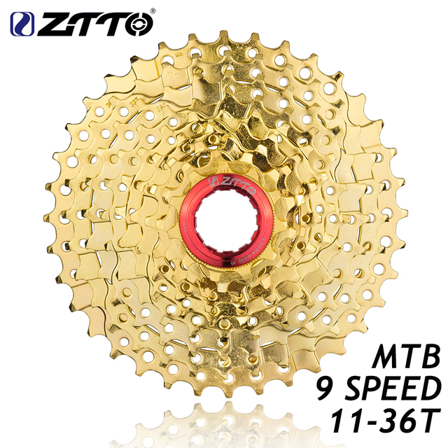 ZTTO MTB Mountain Bike Bicycle Parts 9s 27s 9 Speed 11 36T Gold Golden Freewheel Cassette K7 11V for M370 M430 M4000 M590 M3000