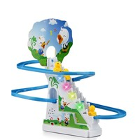 New Interesting Electric Rotary Slide Automatic Stairs With Music Light Kid S Educational Toys Christmas Gift