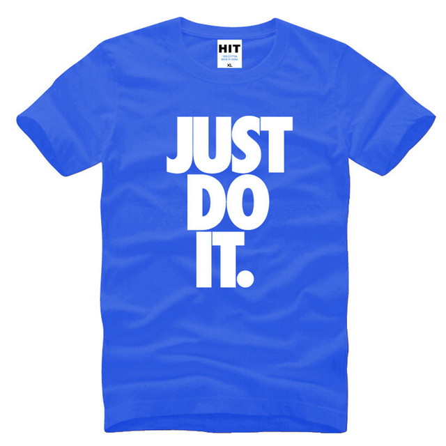 e1c992c8c JUST DO IT Letter Printed Mens Men T Shirt T-shirt Fashion 2016 New Short