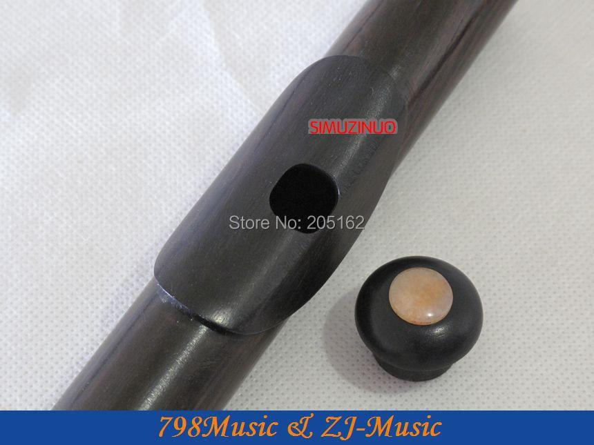 Berlapis emas L Blackwood Grenadilla Afrika Flute-B kaki-Open - Alat-alat musik - Foto 5