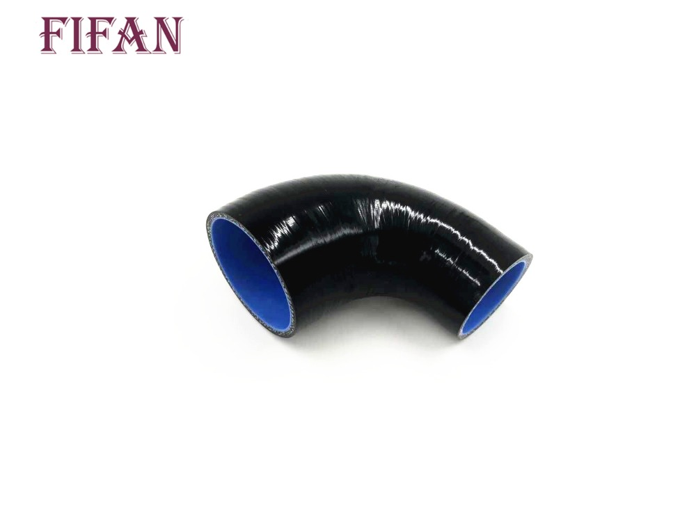 """51 to 70mm//2/""""inch 2.76/""""inch Silicone 90 Degree Reducer Elbow Hose Pipe//T-Clamp"""