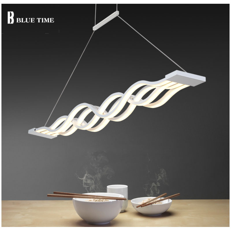 Black and White Simple Modern LED Pendant Light Lamp For Living room Dining room Lustres Aluminum Pendant Lamp Light AC110-220V bried led aluminum acryl pendant light for office dining room ruler creative jane pendant light 110 220v 34 60 90 120cm 1759
