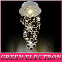 Modern Luxury LED Crystal Chandelier Bedroom Corridor Hallway Entrance Crystal Chandelier Bar Balcony LED Lamp Free