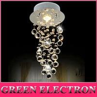 Modern Luxury LED Crystal Chandelier Bedroom Corridor Hallway Entrance Crystal Chandelier Bar Balcony LED Lamp Free Shipping