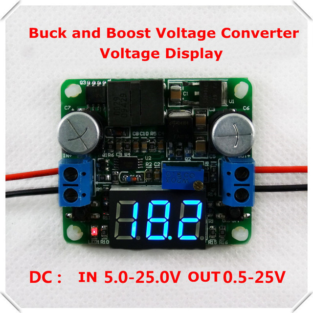 5-25V  Voltage display DC-DC Adjustable Step up/down Power Supply Module boost and buck converter LM2596&LM2577  [ 4pcs/lot]