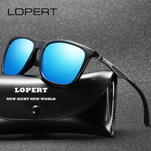LOPERT Fashion Men Polarized Sunglasses Aluminum Magnesium Women Sun Glasses Driving Square Shades For UV400