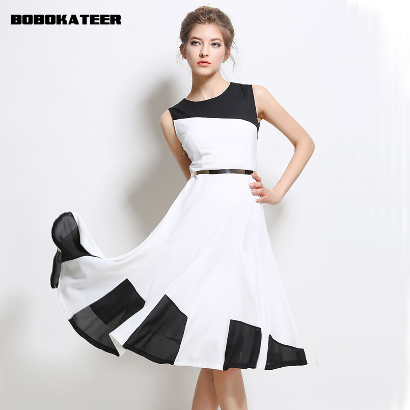 Buy Cheap BOBOKATEER white summer dress women party dresses vestido de festa bandage sexy robe femme ete 2017 casual dress chiffon clothes