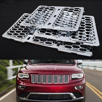 Mayitr 3pcs Silver ABS Honeycomb Front Grill Mesh Grille Insert Trim Cover for Jeep Grand Cherokee 2014 2015 2016
