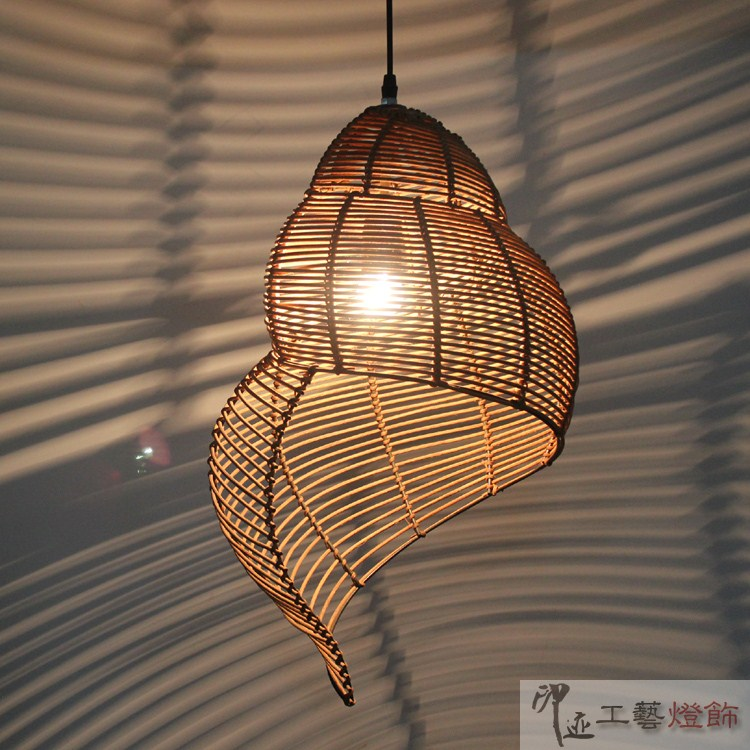 Gastropod rattan balcony lights lighting bedroom lamp for Balcony lights