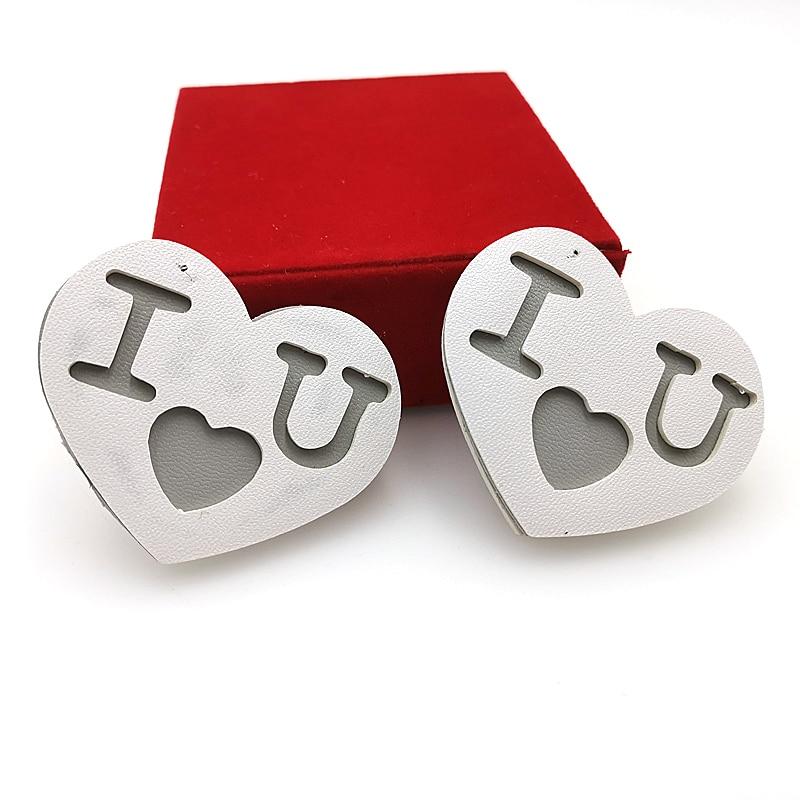 Купить с кэшбэком YD&YDBZ Designer New Couple Heart-Shaped Pendant Necklaces Fashion Handmade Punk Pendant Necklace High Quality Women Jewelery