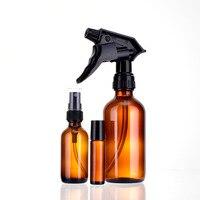 3Pcs Set 240ml 60ml 10ml Travel Portable Transparent Glass Perfume Atomizer Small Mini Empty Spray Refillable
