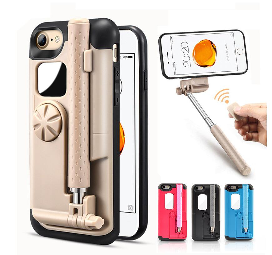 Cell Phone Case Extendable Selfie Stick Chargecable