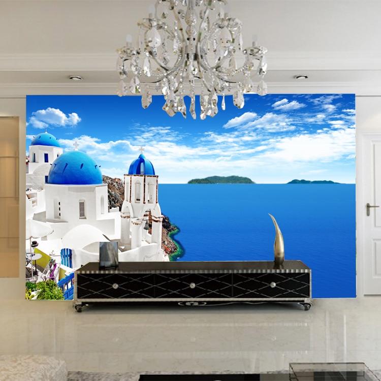 Mediterranean Island Wall Paper Fototapete 3d Duvar Kaplama Mural ...