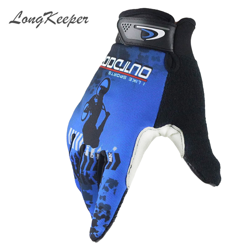 LongKeeper Fashion Kiss Screen Gloves Gym Sport Full Finger Gloves for Men Women Fitness Work Out Guantes G266-2