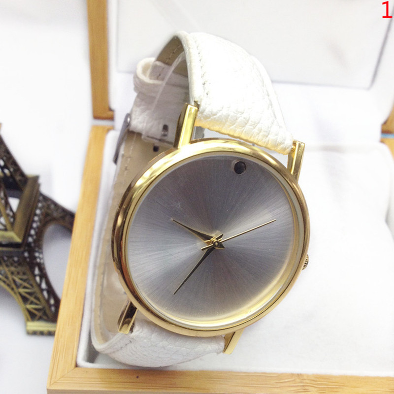 Leather Watches 2017 High Quality Unisex Men & Women's Faux Leather Band Elegant Casual Analog Quartz Wrist Watch free shipping русские подарки подсвечник снеговик