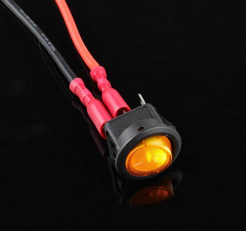 1 stücke KCD1-2 LED Licht Auto Boot Runde Rocker ON/OFF SPST 3 Pins Toggle Taste Schalter 220 V MAX 250 V DIY Zubehör