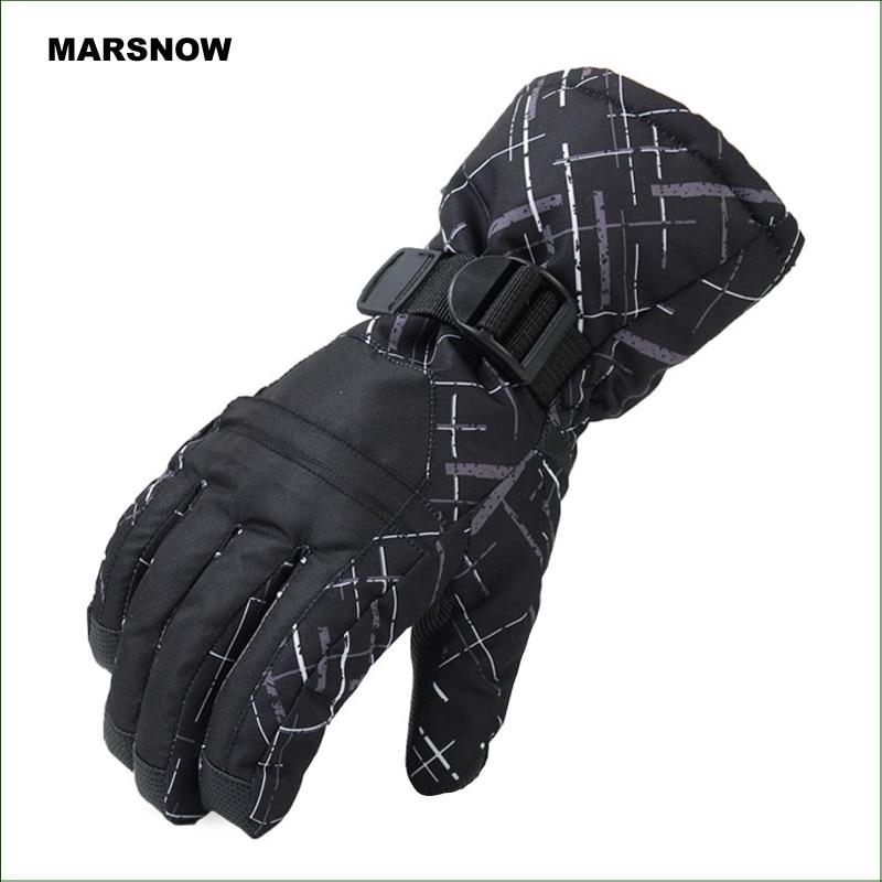 SG05 Անջրանցիկ ձյան ձեռնոցներ Ձմեռային մոտոցիկլ հեծանվավազք Սնոուբորդինգի ձեռնոցներ Սև բացօթյա անվճար առաքում