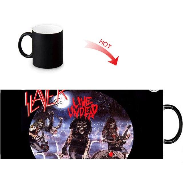 slayer printed color changing mugs home porcelain tea milk cup