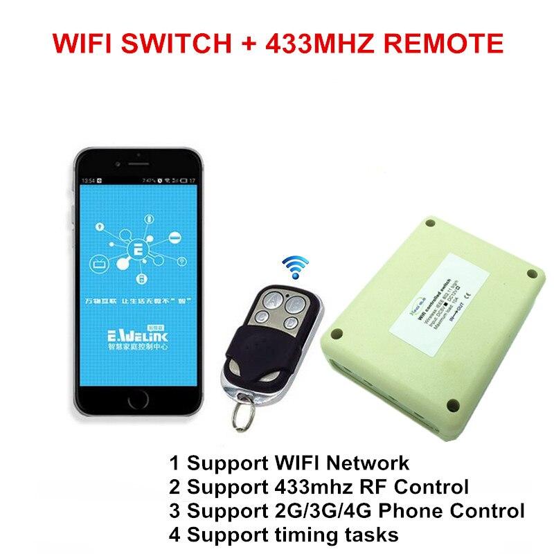 imágenes para Caliente 4ch 5 v dc interruptor wifi controlado by aplicación de teléfono inteligente, RF 433 mhz RF Interruptores del Mando a distancia Inalámbrico Para El Hogar
