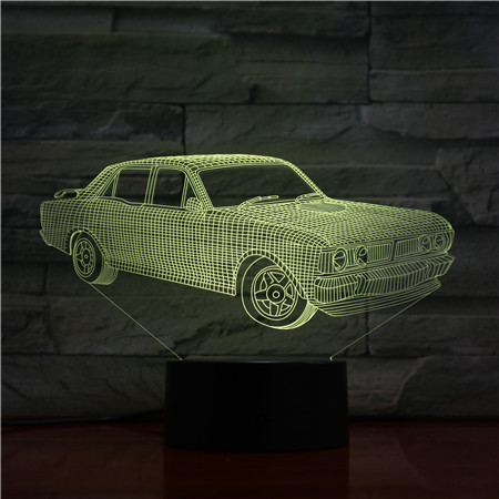 Daddy Gifts 7 Colors Change 3D Lamp Amazing Visualization Acrylic Optical Illusion With USB Cable Support 3AA Battery Drop Ship