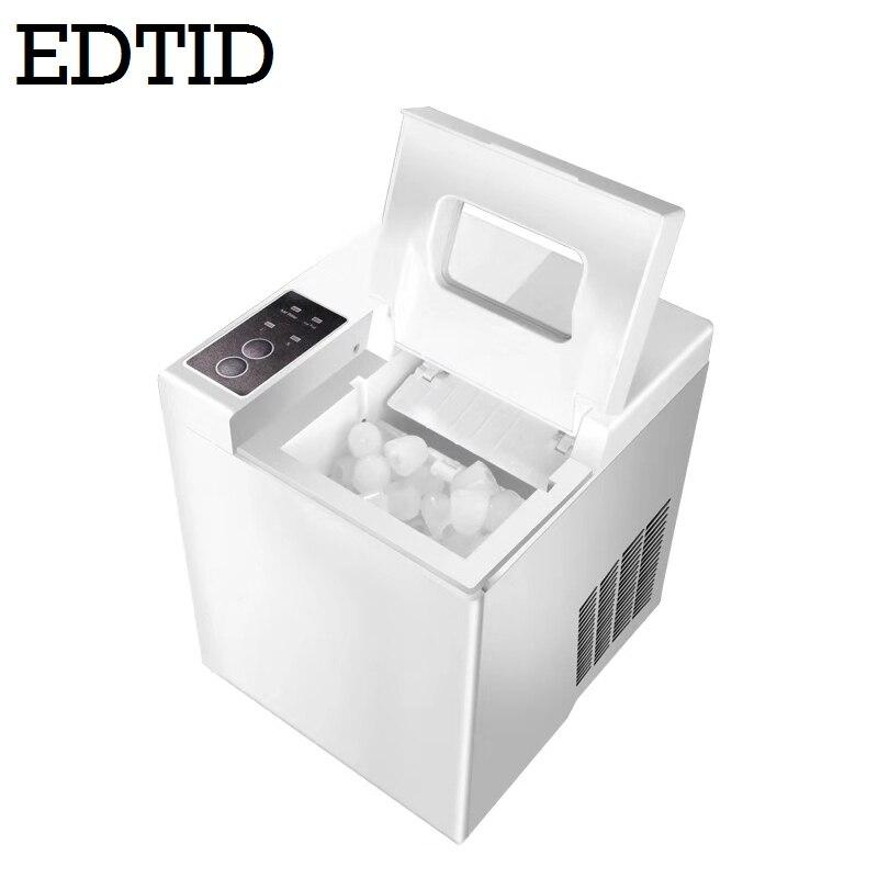 EDTID Mini Automatique Électrique appareil à glaces Balle Ronde Bloc De Glace Cube Faisant La Machine 15kgs/24 H Petit Bar Lait Thé sweat tricoté UE