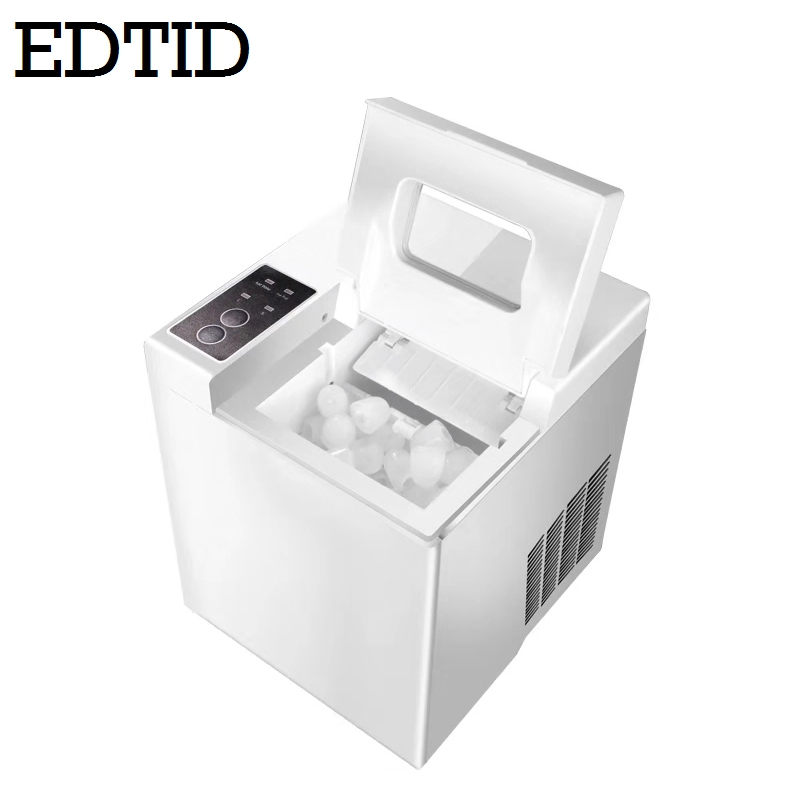 EDTID Mini Machine à glaçons électrique automatique balle bloc rond glaçon faisant la Machine 15kgs/24H petite barre lait thé café magasin EU-in Machines à glace from Appareils ménagers    1