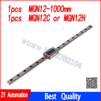 12mm Linear Guide MGN12 L= 1000mm linear rail way + MGN12C or MGN12H Long linear carriage for CNC X Y Z Axis