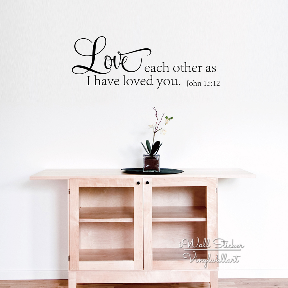 Love Wall Quotes Online Shop Love Each Other Quote Wall Sticker Bible Quotes Wall