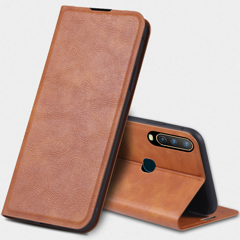 For <font><b>Vivo</b></font> IQOO NEO V17 NEO Z5 Y7S V15 S1 Pro Y17 Z5X Y12 <font><b>Y15</b></font> Leather <font><b>Case</b></font> Auto Magnetic Closed Flip Stand Cover Wallet Book Capa image