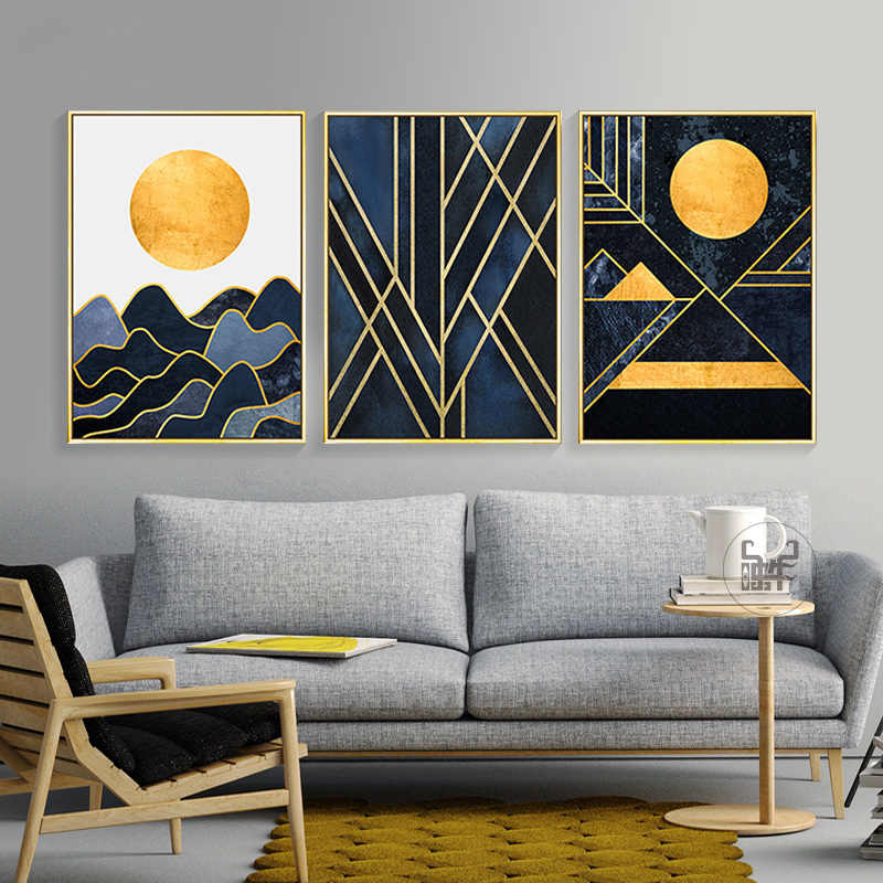 Abstract Landscape Painting Coffee House Wall Art Modern Living Room Canvas Poster Print Study Room Picture Office Decoration