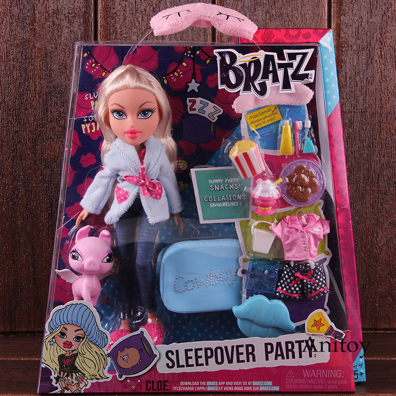 Bratz Doll Study Abroad Raya to Mexico Sleepover Party Cloe Fashion Movable Figure Action Girls Children Play House Toy